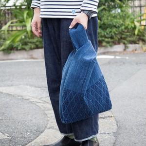 うしじま縫製 | 武州正藍染 エコバッグ 二重刺子
