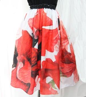 赤いスイートピー スカート