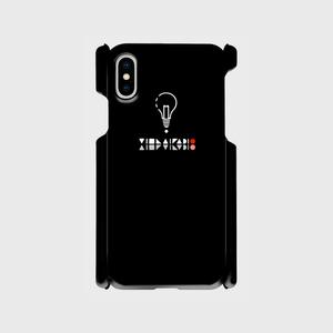 【X,8,7,SE】ロゴ(文字入り) iPhoneケース黒