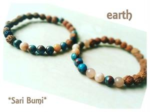 【ペア専用】earth~アズライトとルドラクシャのブレスレット