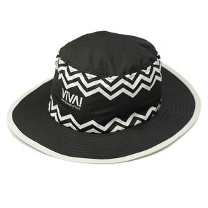 VIVA! ISLAND ビバアイランド VACANCES HAT (ストライプ バカンスハット/ブラック V-916002)