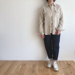 niuhans  Ramie Linen Wool Oversized Shirt