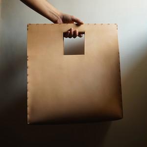 四角鞄 牛ヌメ革 ( 受注生産 )