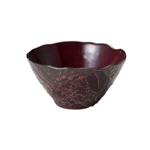 「リアン Lien」サラダ&フルーツボウル 皿 直径約18×深さ17cm L パープル 美濃焼 267823