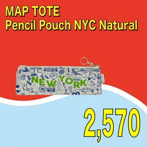 MAP TOTE / Pencil Pouch NYC  Natural