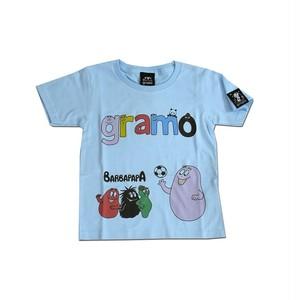 BARBAPAPA×gramo コラボ Tシャツ「lesson-T」(ライトブルー/T-019) ※110cm~150cm