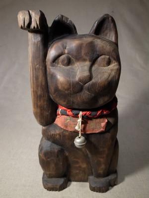 木製招き猫