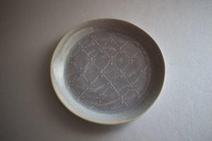 豊田雅代|小皿4寸 水色