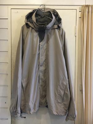 oversized nylon hooded jacket