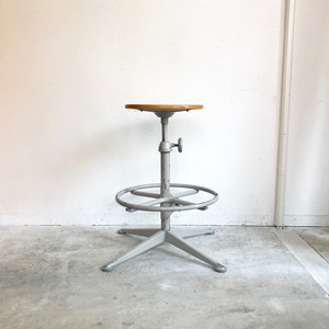 """Friso Kramer"" for Ahrend de Cirkel Drafting Stool with Foot Rest 1960's オランダ"