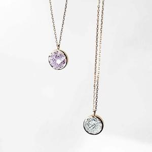 Green Quartz /Rose Amethyst KIRIKO Necklace (Round)