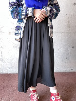 Vintage Black Silk Chiffon Skirt