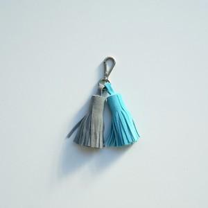 Keyring/Gray×Turquoise