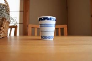 砥部焼/フリーカップ/四種ボーダー/皐月窯