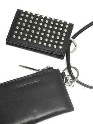 Leather wallet & card case 'empty-handed' all studs ネックウォレット 183AWA15
