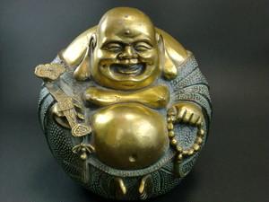 【値下げ】羅漢銅像(大) 置物 風水 縁起物