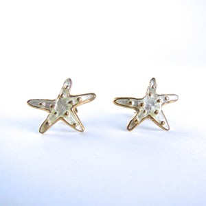 Starfish Pierced Earrings/Crystal
