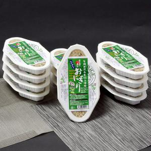 有機玄米おにぎり - わかめ12パックセット 「那須くろばね芭蕉のお米」100%使用 [Organic sprouted brown rice with seaweed×12]