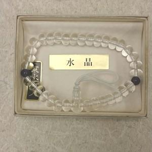 腕輪念株 水晶 紫水晶仕立 ミカン玉