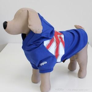 【M~L】犬服 フラッグ柄パーカー 4010