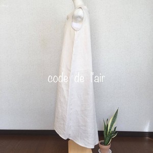 リネンワンピース・キナリ    ー lotus blanc ー