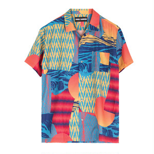 S/S HAWAIIAN SHIRT(DOUBLE RAINBOUU)