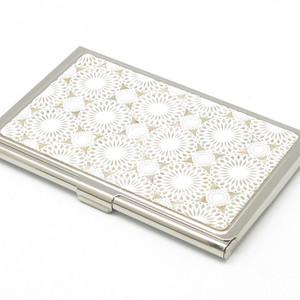 天然貝 名刺カードケース(鞠)<螺鈿アート>