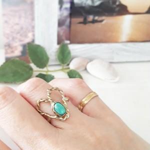9号 【brass】  turquoise ring