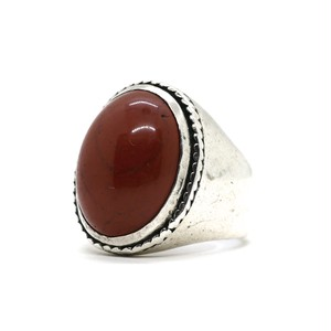 Vintage Sterling Silver Mexican Red Jasper Ring