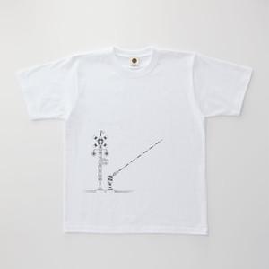 Tシャツ|踏切 ( White × Dark Gray )