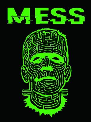 THE MAZE ブラックTシャツ グリーン フォントH