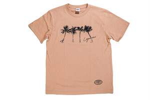 【brush palm tree T-shirt】/ coral beige