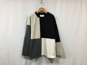 "CURLY"" ADDINGTON LS CN TEE ECRU/GRAY"""