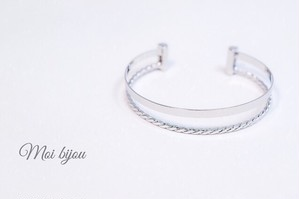 Double line fit bangle*silver
