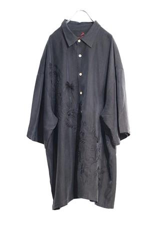 Black aloha shirt