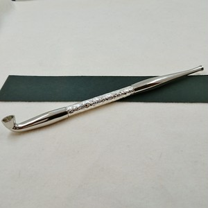 真鍮延べ煙管電鋳仕上げ 唐草シルバー
