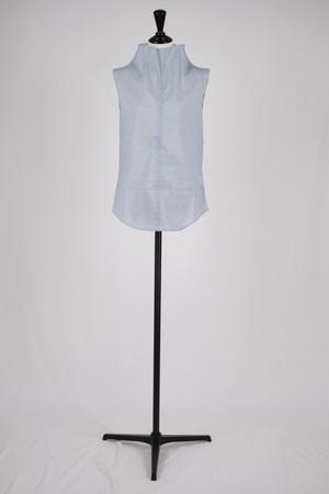 【MURRAL】stretch sheer sleevless top - blue