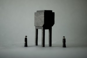 (056)wood figure-mini &structure 箱入 023