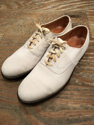 1960s Canadian navy white bucks shoes size 10 D