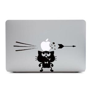 MacBook Air11インチ用背面デザインステッカー「りんごを乗せた猫」
