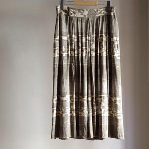 Animal Print Skirt / 隠れ アニマル柄 レーヨン スカート
