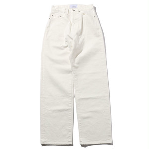 WIDE DENIM PANTS [ WHITE ]