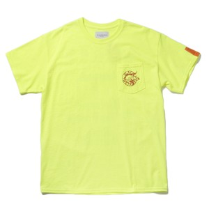 Black Weirdos Paris Pocket T-Sh(Safety Green)