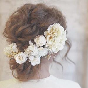 bridal white* ヘッドドレス