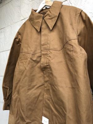 Deadstock French railroad brown work jacket