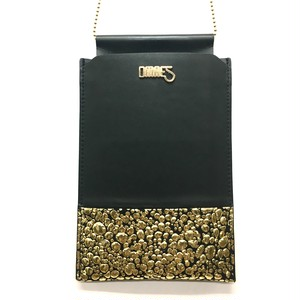 Multi PhonePochette【WaterDrop】Gold×Black