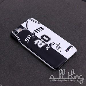 「NBA」スパーズ マヌジノビリ コラージュ風 ジャージ サイン入り iPhoneXR iPhone8 ケース