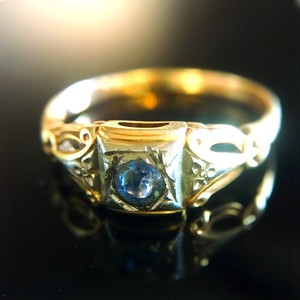 Turn of The Century Sapphire Ring