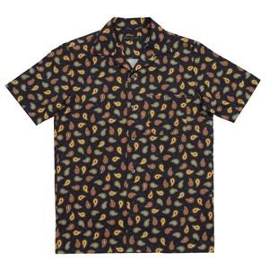 【Original John】 半袖オープンカラーシャツ ペイズリー 〈Dark Navy〉