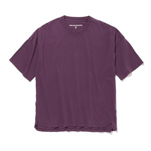 DROPPED SHOULDER SLEEVES T-SHIRT- PURPLE